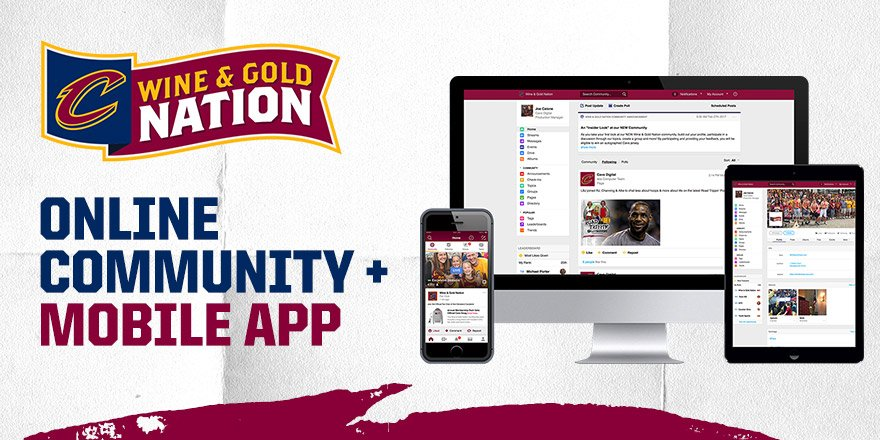 Cleveland Cavaliers create first-ever team social network